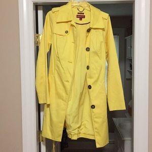 Pretty, bright yellow trench coat by Merona